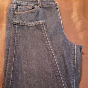 LOFT Jeans - Womans Curvy High Waist Skinny Ankle Jeans (Loft)